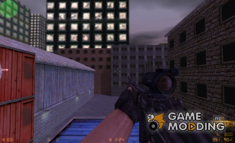Scoped G3 on ManTuna anims [CS:1.6 version] для Counter-Strike 1.6