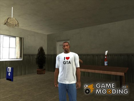 Футболка Я люблю GTA for GTA San Andreas