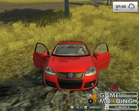 VW Golf Gti v1.0 Red для Farming Simulator 2013