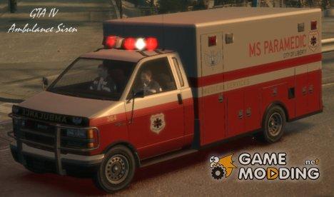 GTA IV Ambulance Siren для GTA San Andreas