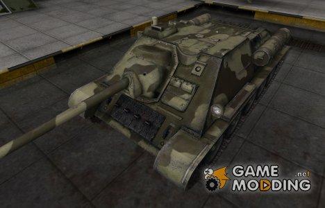 Пустынный скин для СУ-85 для World of Tanks