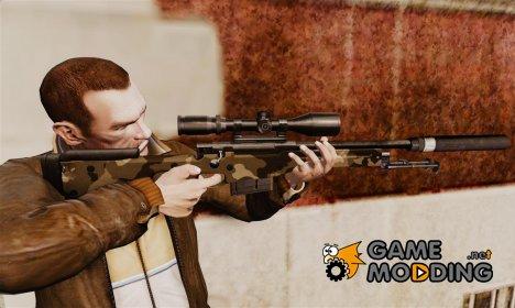Снайперская винтовка AW L115A1 с глушителем v10 for GTA 4