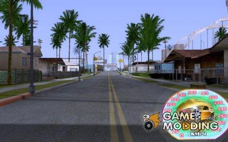 New speedometer v.2 for GTA San Andreas