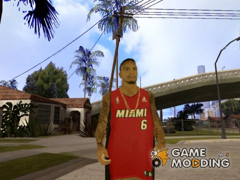 LeBron James NBA Miami Heat для GTA San Andreas