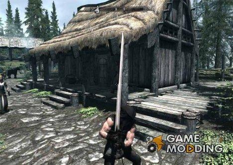 Двуручный меч назгула для TES V Skyrim