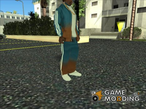 Adidas Suit Pants Orange blue для GTA San Andreas