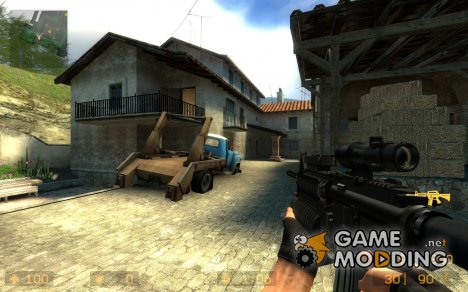 Absolute Destruction - M4 SOPMOD- by Skladfin для Counter-Strike Source