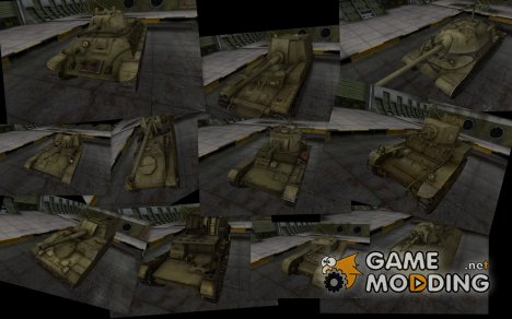 Пак танков в раскраске 4БО for World of Tanks