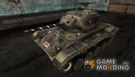 "Шкурка для M24 Chaffee ""Tank Girl"" для World of Tanks"
