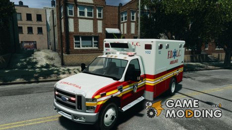 Ford F350 FDLC Ambulance v3.0 ELS для GTA 4