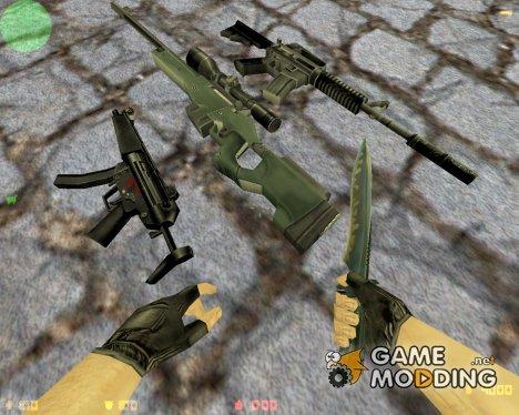 Стандартные модели оружия for Counter-Strike 1.6