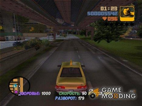 Состояние автомобиля 0.1.1 for GTA 3