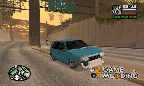 Ваз 2109 в тонире for GTA San Andreas