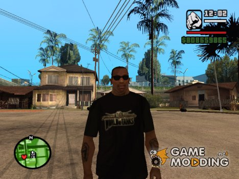 Футболка с логотипом World Of Tanks для GTA San Andreas
