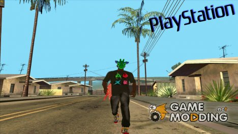 "Футболка ""Playstation"" for GTA San Andreas"
