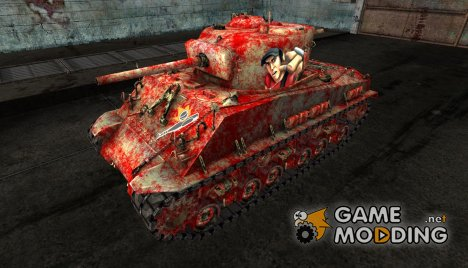 M4A3E8 Sherman в стиле игры Team Fortress 2 for World of Tanks