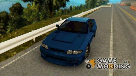 Nissan Skyline R33 4door outech для GTA San Andreas