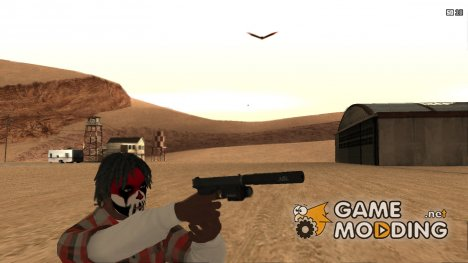 Glock 17 с глушителем для GTA San Andreas