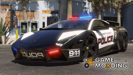 Lamborghini Reventón Hot Pursuit Police AUTOVISTA 5.0 for GTA 5