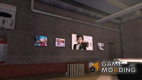 Новые постеры в квартире Playboy X for GTA 4
