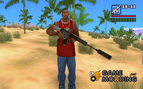 M4A1 с глушителем, коллим. прицелом из C.O.D M.W 2 для GTA San Andreas