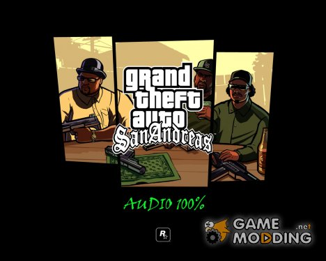 "Оригинальная папка audio от ""Rockstar games"" for GTA San Andreas"
