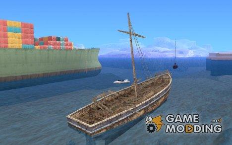 Затонувшая лодка из RE5 for GTA San Andreas