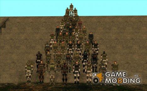 """Группировка """"Монолит"""" из S.T.A.L.K.E.R. для GTA San Andreas"""