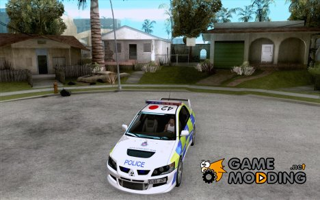 Mitsubishi Lancer EVO 8 Uk Policecar for GTA San Andreas