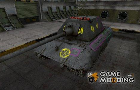 Контурные зоны пробития E-100 для World of Tanks