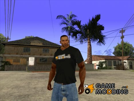 CJ в футболке (GameModding) для GTA San Andreas