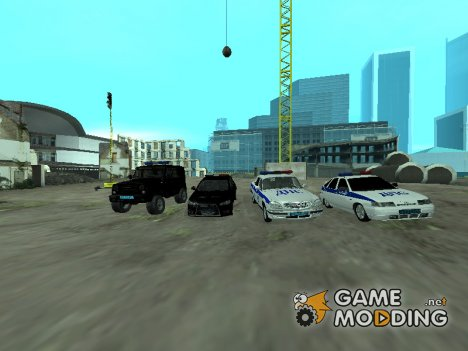 Новый пак полицейских машин для GTA San Andreas
