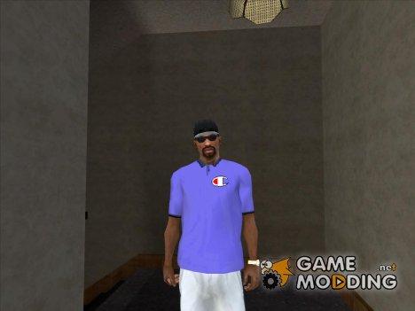 Фиолетовая футболка Polo Champion for GTA San Andreas