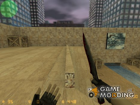 Red knife for Counter-Strike 1.6