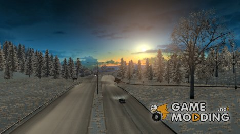 Зимний мод 3.0.1 (HQ) for Euro Truck Simulator 2