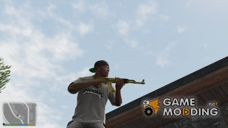 Golden AKS-47 для GTA 5