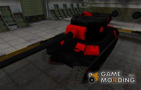 Черно-красные зоны пробития M6A2E1 для World of Tanks