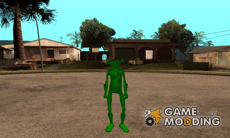 Зелёный человечек для GTA San Andreas