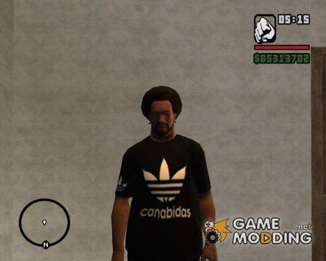 Canabidas Black T-Shirt для GTA San Andreas