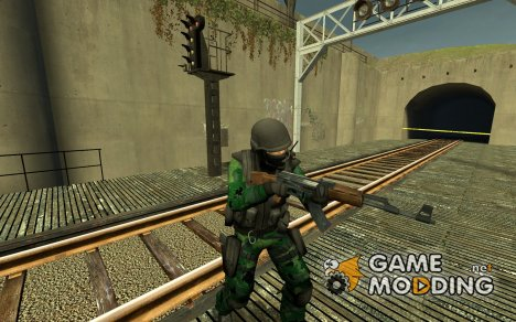Tropical Camo Counter-Terrorist for Counter-Strike Source