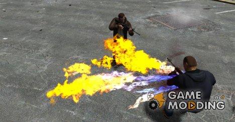 Огненные пули for GTA 4