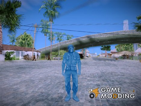 Blue Solider from Army Men Serges Heroes 2 для GTA San Andreas