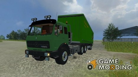 Mercedes-Benz NG 1632 и прицепы к нему for Farming Simulator 2013