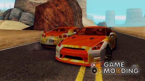 Nissan GTR Heavy Fire для GTA San Andreas