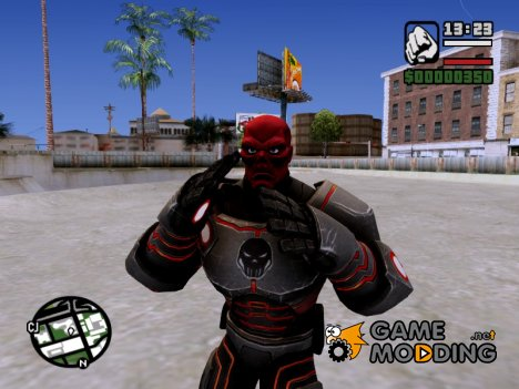 Red Skull skin for GTA San Andreas