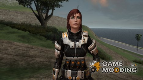 Mass Effect 3 Female Shepard Ajax Armor для GTA San Andreas