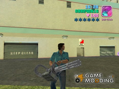 Hand Held M134 Minigun for GTA Vice City