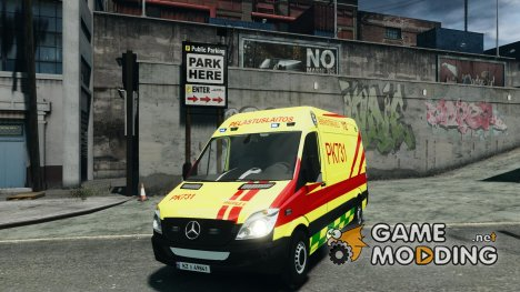 Mercedes-Benz Sprinter PK731 Ambulance for GTA 4