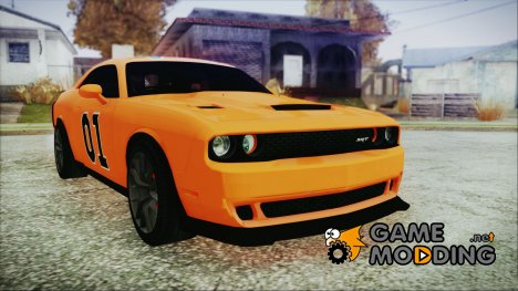 Dodge Challenger SRT-8 2015 Hellcat General Lee для GTA San Andreas