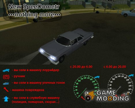 "Speedometer ""nothing more"" для GTA San Andreas"